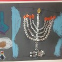 Childrens Hanukkah Menorah Art (art lesson 8)